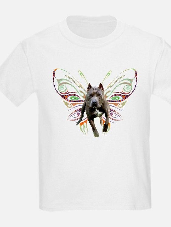 Pit Bull Butterfly Art T-Shirt