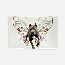 Pit Bull Butterfly Art Rectangle Magnet (100 pack)