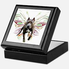 Pit Bull Butterfly Art Keepsake Box