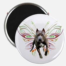 """Pit Bull Butterfly Art 2.25"""" Magnet (100 pack)"""