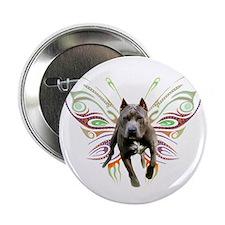 Pit Bull Butterfly Art Button