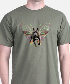 Pit Bull Butterfly Art T-Shirt