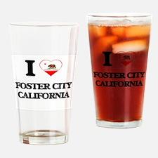 I love Foster City California Drinking Glass