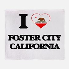 I love Foster City California Throw Blanket