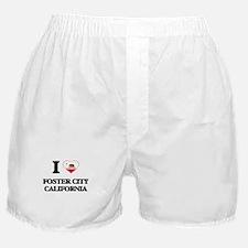 I love Foster City California Boxer Shorts