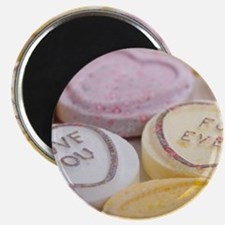 Kitschy conversation hearts hipster candy v Magnet