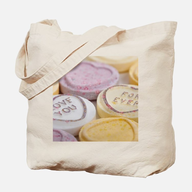 Kitschy conversation hearts hipster candy Tote Bag