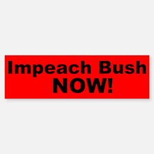 Impeach Bush Now! bumper stic Bumper Bumper Bumper Sticker