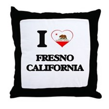 I love Fresno California Throw Pillow