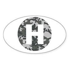 Camo HeliPad Oval Decal