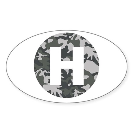 Camo HeliPad Oval Sticker