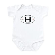 Hungary Euro Oval Infant Bodysuit