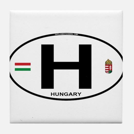 Hungary Euro Oval Tile Coaster