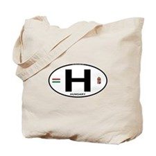 Hungary Euro Oval Tote Bag
