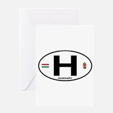 Hungary Euro Oval Greeting Card