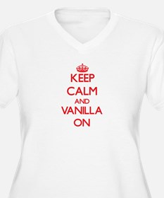 Keep Calm and Vanilla ON Plus Size T-Shirt