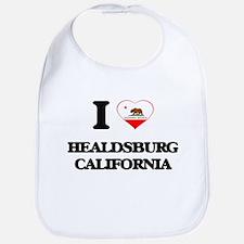 I love Healdsburg California Bib