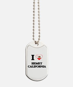 I love Hemet California Dog Tags
