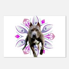 Pit Bull Kaleidoscope Graphic #P2 Postcards (Packa