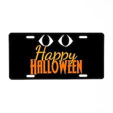 Halloween Eyes Aluminum License Plate