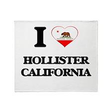 I love Hollister California Throw Blanket