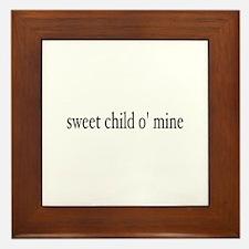 sweet child o mine Framed Tile