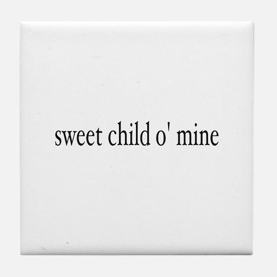 sweet child o mine Tile Coaster