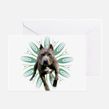 Pit Bull Kaleidoscope Graphic #P5 Greeting Card