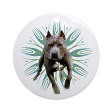 Pit Bull Kaleidoscope Graphic #P5 Ornament (Round)