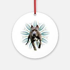 Pit Bull Kaleidoscope Graphic #P5 Ornament (Round)