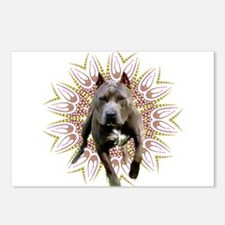 Pit Bull Kaleidoscope Graphic #P6 Postcards (Packa