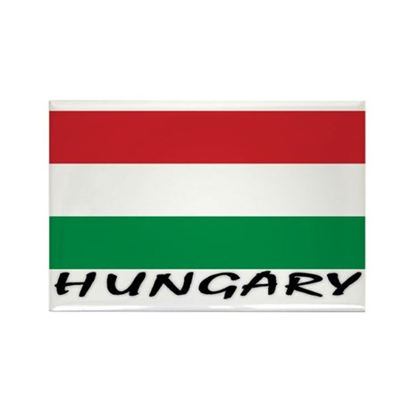 Hunagry Flag (labeled) Rectangle Magnet