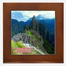 Discover the World: Machu Picchu Framed Tile