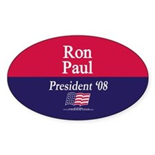 """""""Ron Paul for President"""" Oval Decal"""