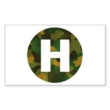 Camo Green HeliPad Rectangle Decal