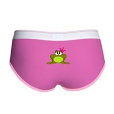 Frog Princess Pink Crown Women's Boy Brief