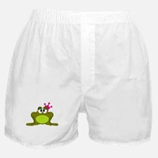 Frog Princess Pink Crown Boxer Shorts