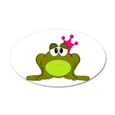 Frog Princess Pink Crown Wall Decal