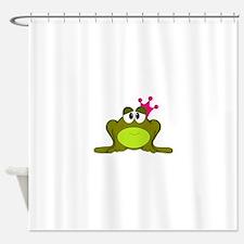 Frog Princess Pink Crown Shower Curtain