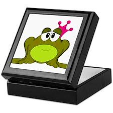 Frog Princess Pink Crown Keepsake Box
