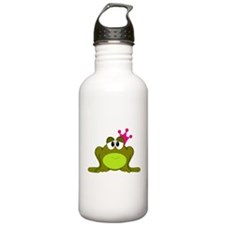 Frog Princess Pink Crown Water Bottle