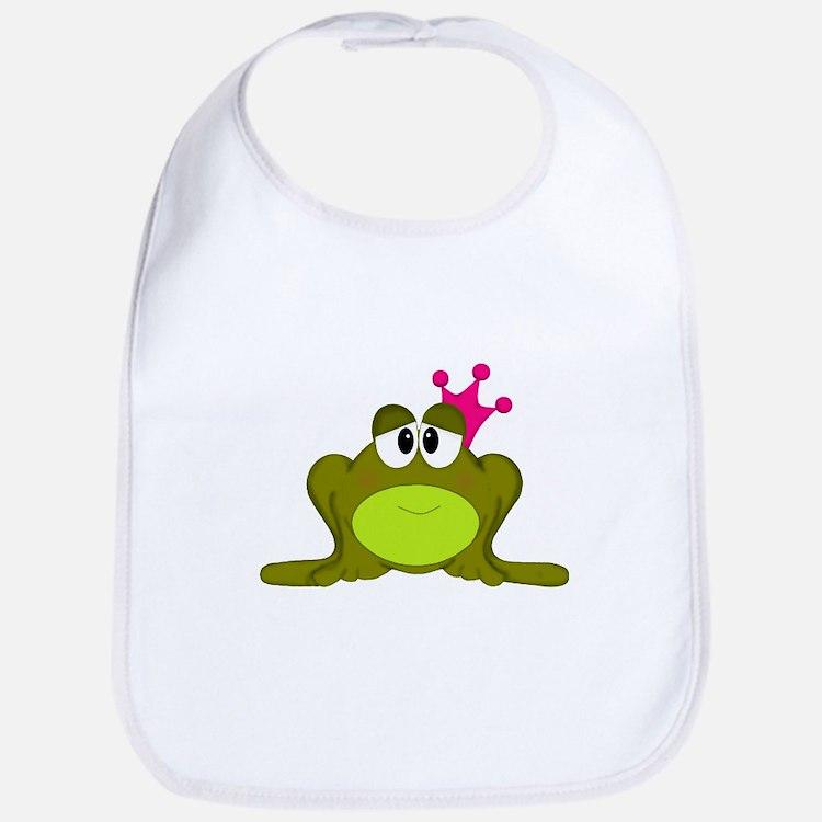 Frog Princess Pink Crown Bib