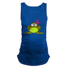 Frog Princess Pink Crown Maternity Tank Top
