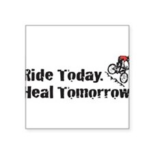 "Cute Handle bars Square Sticker 3"" x 3"""