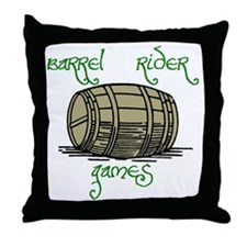 Barrel Rider Games Throw Pillow