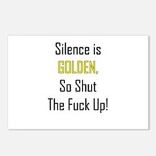 Silence is Golden Postcards (Package of 8)