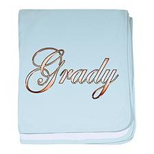Gold Grady baby blanket