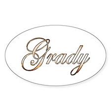 Gold Grady Decal