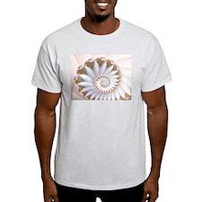 """White Nautilus"" Fractal Art T-Shirt"