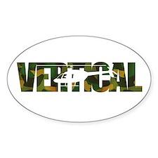 Vertical Camo Oval Bumper Stickers